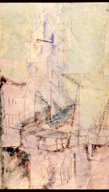 """""""Church at Morning"""" by Lyonel Feininger"""