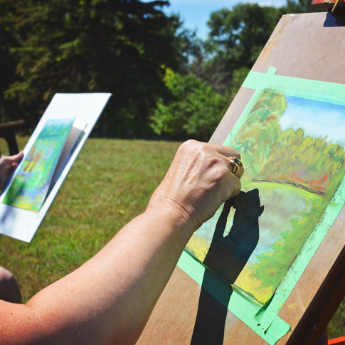 Plein Air Pastels at Kennedy Memorial Park