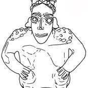 Jalisco Seated Figure with Studded Headdress
