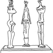 Three Standing Figures