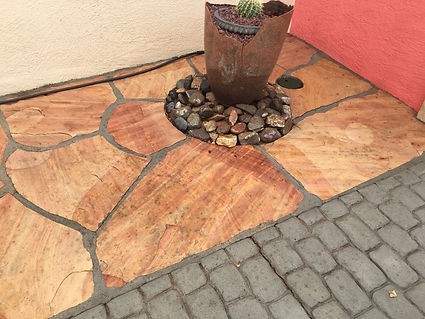 Clean patio after power wash