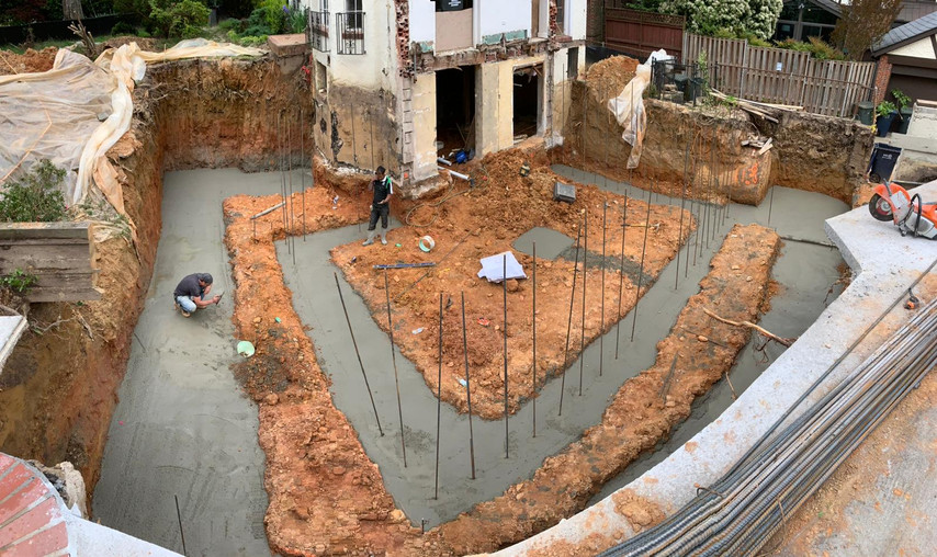 Concrete Footing Poured