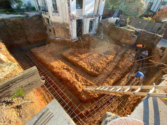 Rebars Set for New Concrete Footing