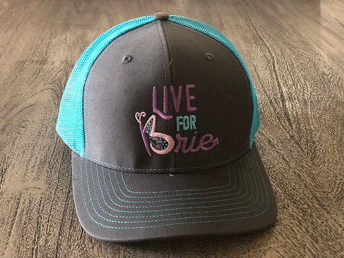 Teal and Gray Hat