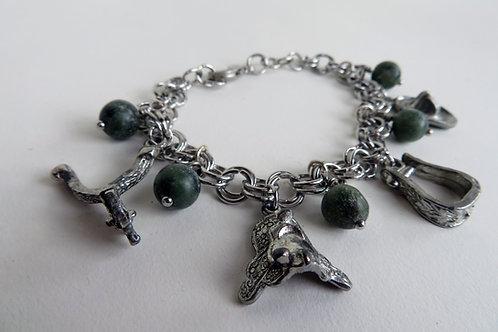Sterling Silver Charm Bracelet - Mable Bracelet
