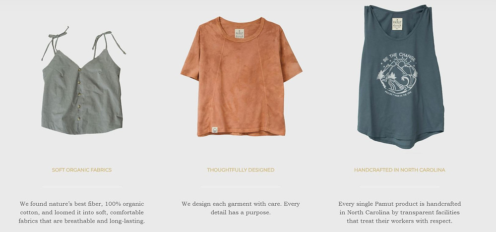 Eco Friendly Organic Cotton Women's Fashion Apparel Made in the USA