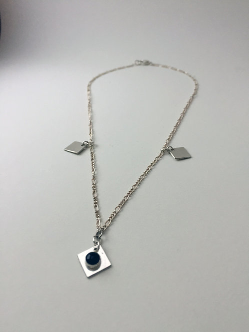 Choker Necklace with Sterling Silver Charms - Elizabeth Necklace