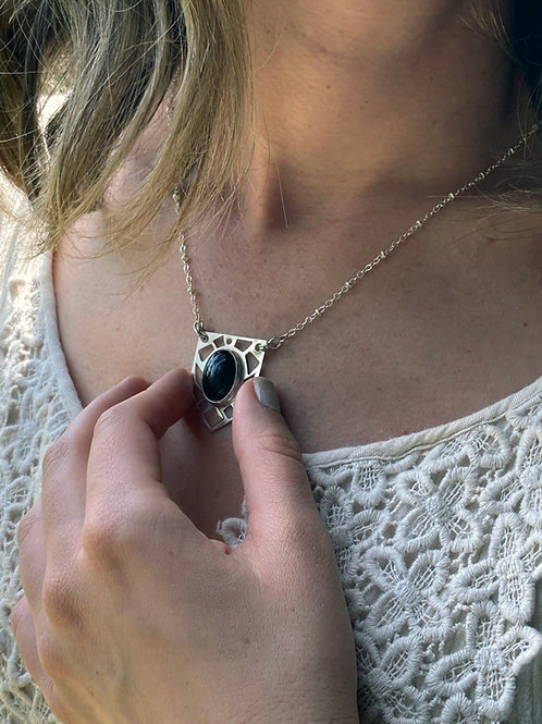 Sterling Silver Pendant Necklace -Claudia Necklace