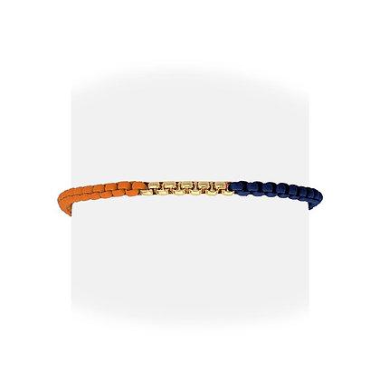 Pulsera Naranja y Azul