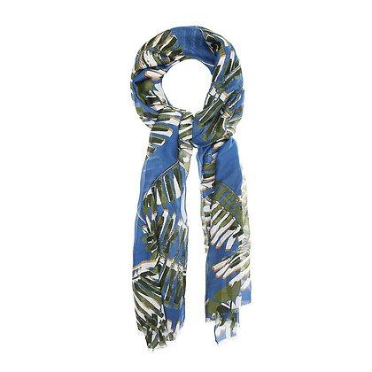 Foulard Palm Blue