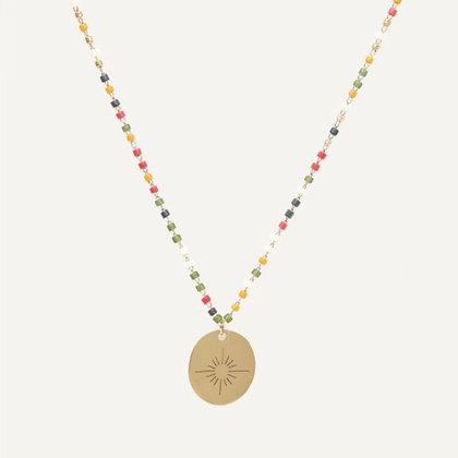 Gargantilla Medalla Color Sol