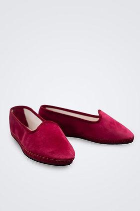 Zapato Terciopelo Frambuesa