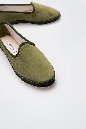 Zapato Terciopelo Verde