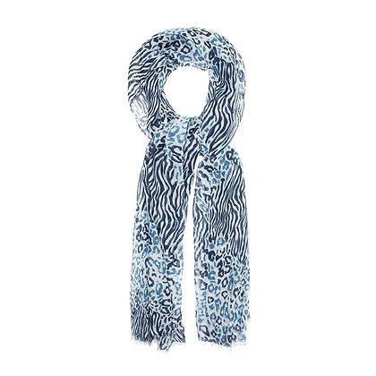 Foulard Print Blue