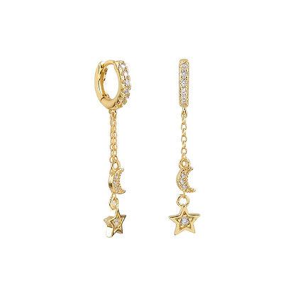 Pendiente Estrella y Luna