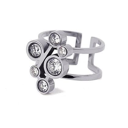 Anillo MultiCirconita Silver