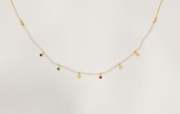 Gargantilla perlas y colores