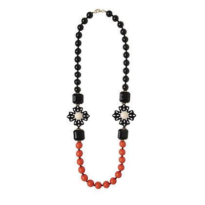 Collar Bicolor Orange and Black