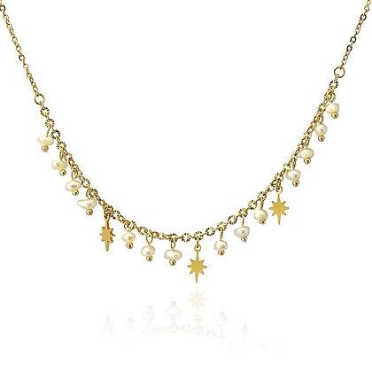 Gargantilla Perlas y Star