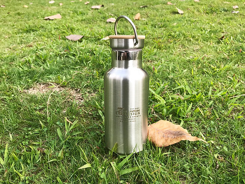 Stainless Steel & Bamboo Water Bottle - 350ml