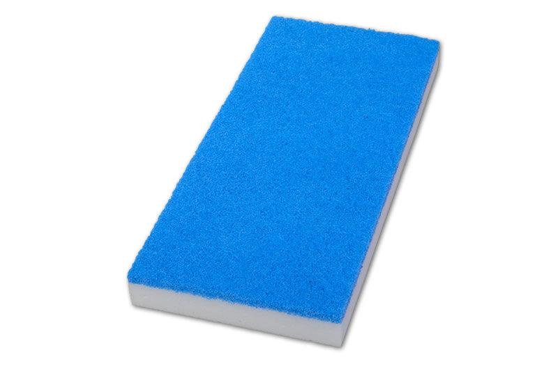 Melamin Radierpads für Handpadhalter blau/weiß