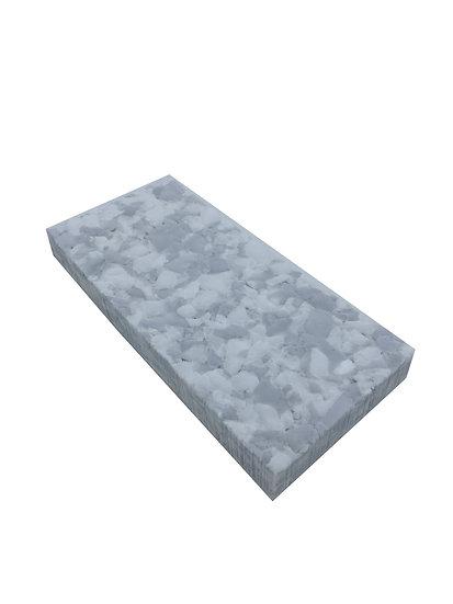 Melamin Combo KOMPAKT Radierpad für Handpadhalter grau/weiß