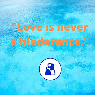Love is never a hinderance meme..jpg