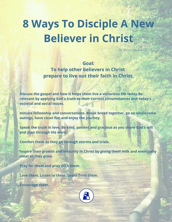 8 Ways To Disciple A New Believer in Chr