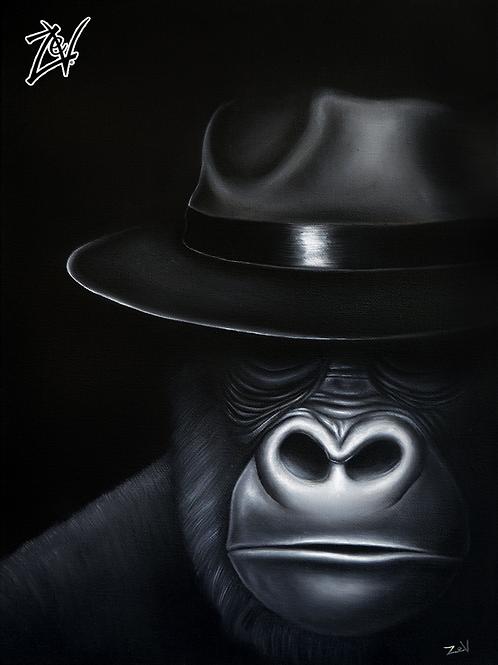 """""""Noir Ape"""" Gallery Wrap Canvas Print"""
