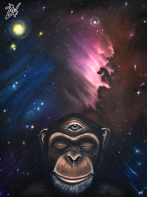 """Simian Transcendence"" Gallery Wrap Canvas Print"
