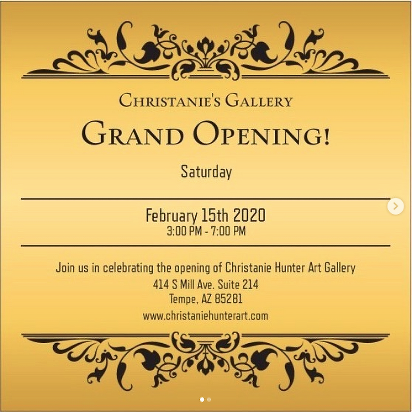 The Christanie Hunter Art Gallery Grand Opening