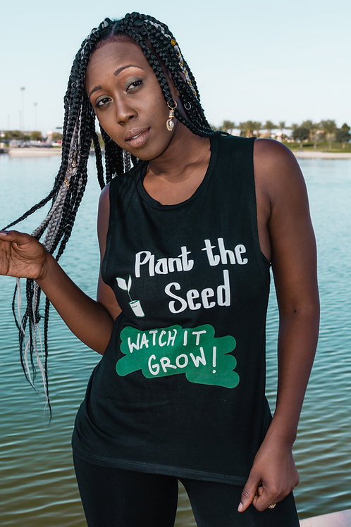 Women's Plant The Seed - Flowy Muscle Shirt