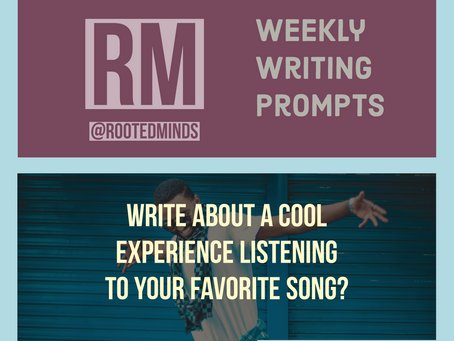 Weekly Writing Prompt 1/9/20