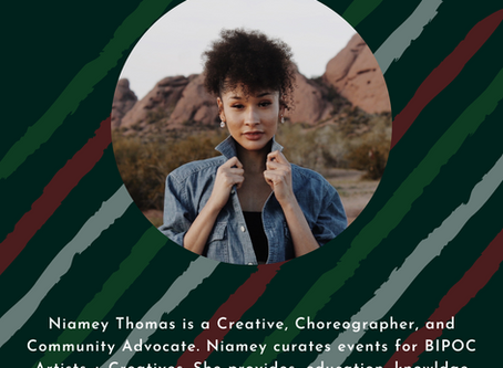Niamey is sharing at the Anthology Event on October 24th