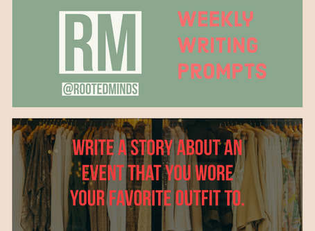 Weekly Writing Prompt 1/16