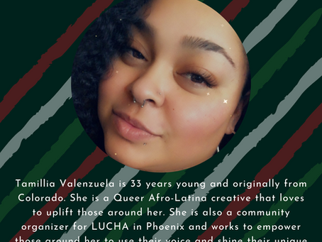Tamillia Valenzuela will be sharing at the Anthology on October 24th