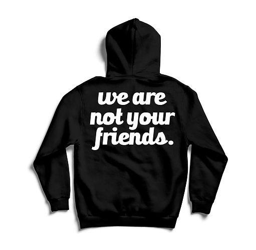 We Are Not Your Friends Hoody