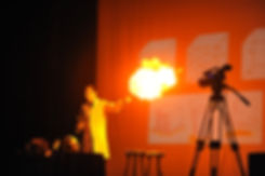 Jamie Gallagher on stage