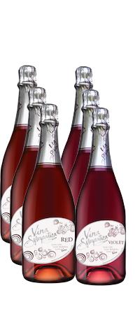 6 Bottle Mix -3 RED, 3 VIOLET (Bi-Monthly WC)