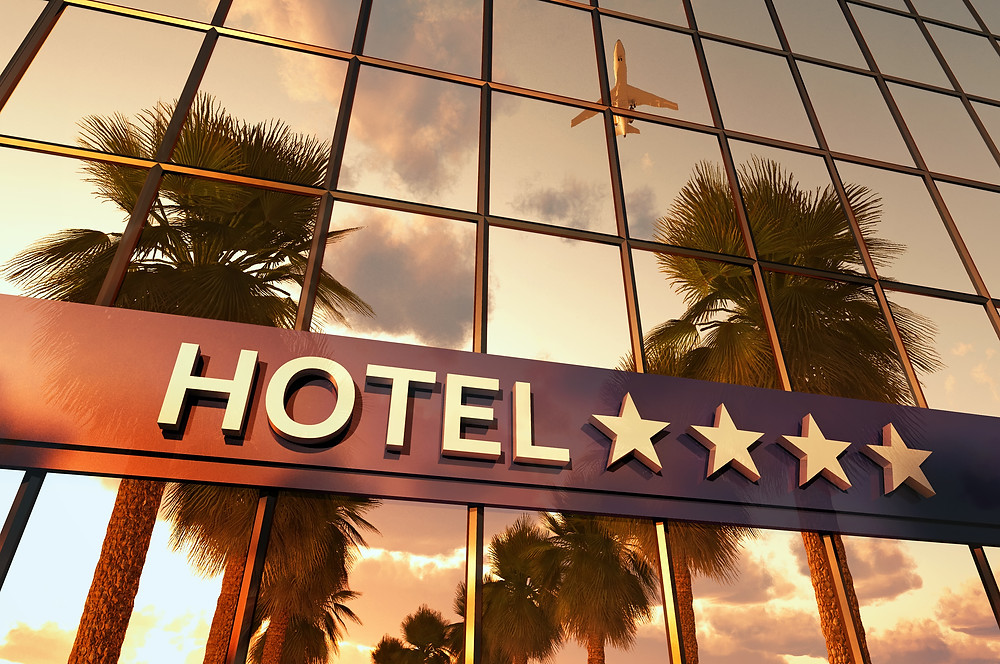hotel building reflection - positive feedback online post