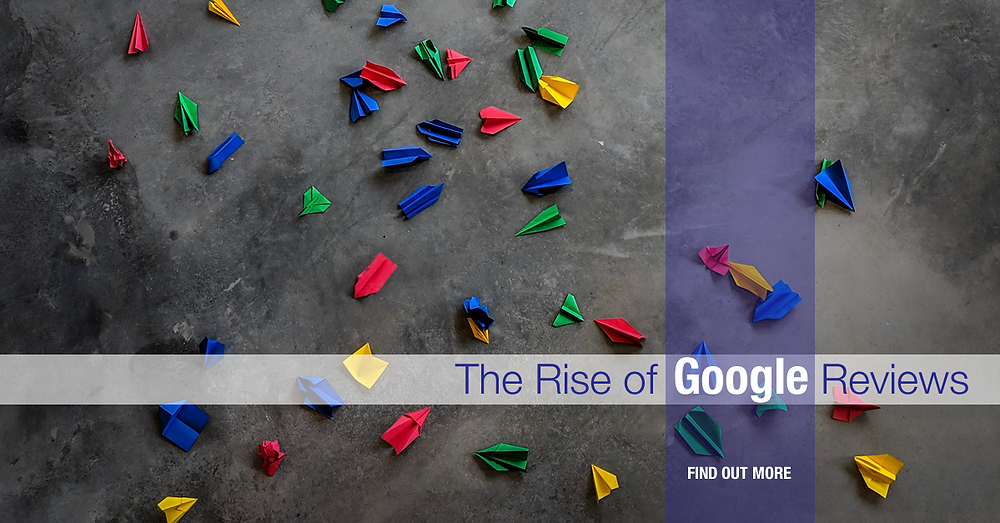 Google colored paper airplanes on the ground - Rise of Google Customer Reviews header image