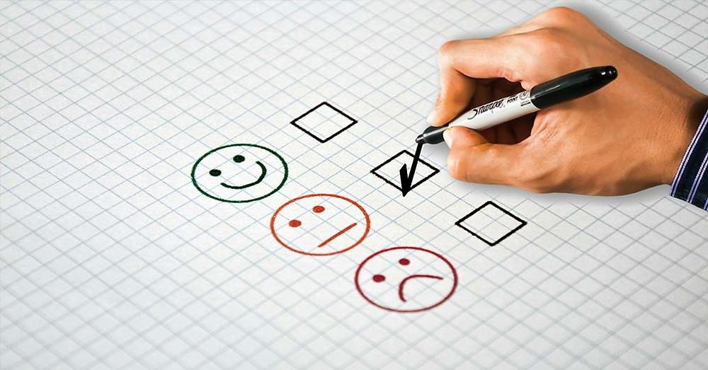 Man responding to feedback survey - responding to reviews post