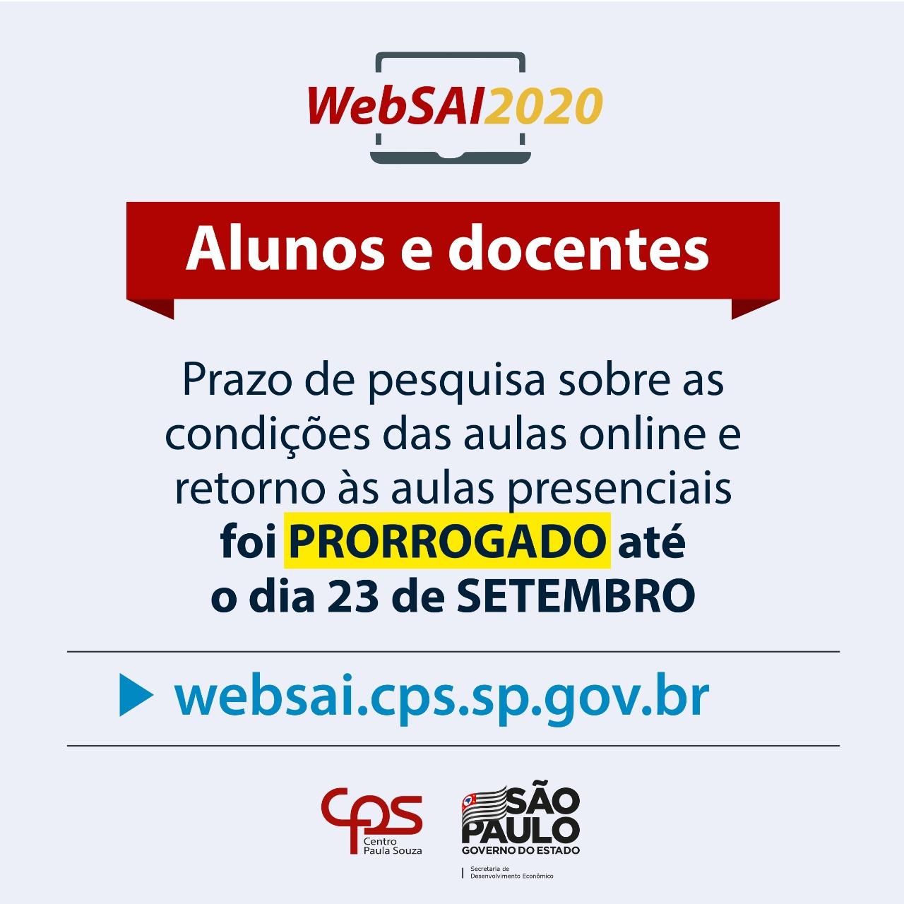 Websai Prorrogado