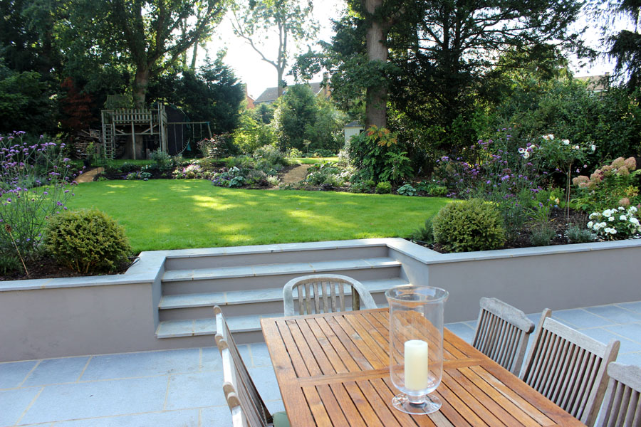 Family garden in Long Ditton
