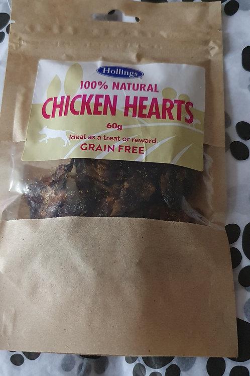 100% natural chicken hearts