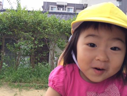 子どもにしかできない表情(*^-^*)