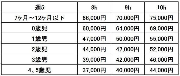 料金表(週5).JPG