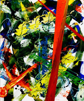 """Peggy Floyd """"Abstract in Green"""""""