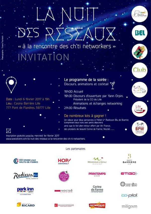 Le Club partenaire de la Nuit des Réseaux - lundi 6 février 2017
