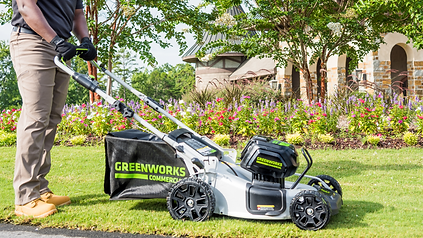 greenworks commercial battery lawn mower